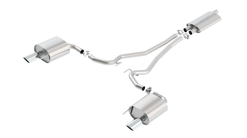 Mustang EcoBoost 2015 Cat-Back Exhaust Touring part # 140583 140583