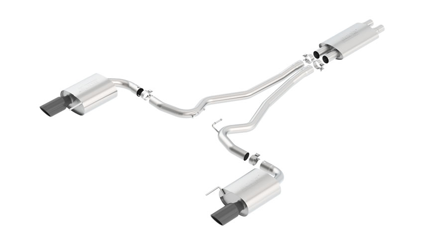 Mustang GT 2015-2016 Cat-Back Exhaust Touring part # 140589BC 140589BC