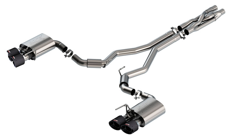 Mustang Shelby GT500 2020 Cat-Back Exhaust ATAK part # 140837CF 140837CF