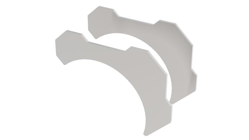 Tube Bracket Kit 2.25